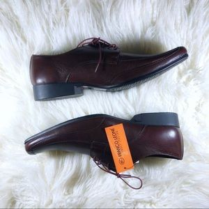 NEW Franco Leone Truly Italian Leather Bordo Shoes
